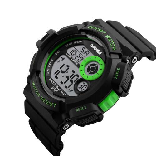 Mens Army SHOCK Sport Quartz Wrist Day Date Digital Watch Waterproof Military