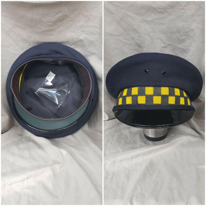 Vintage Chicago Police Department Supervisor SGT LT Hat Midway Cap Co 6 3/4 GOLD
