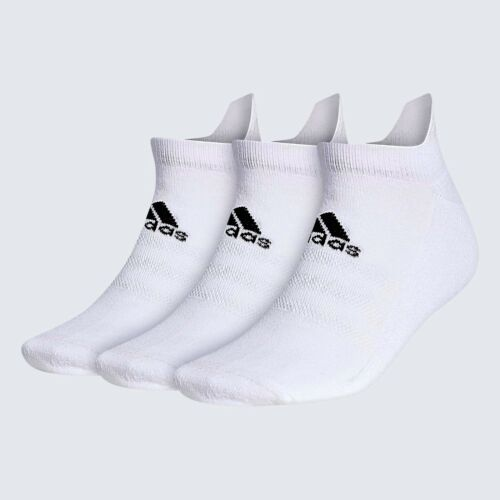New  Adidas (3) Pack Ankle Sock White Pick Size FREE SHIPPING