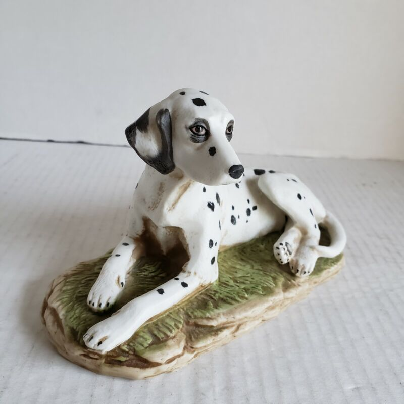 Vintage Dalmatian Dog Ceramic Figurine Japan