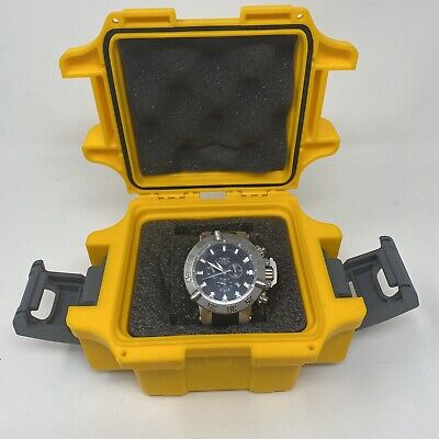 Invicta Subaqua Noma III 1194 Chronograph Stainless Steel Black Face Watch