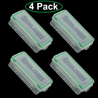 Waterproof Battery Storage Case Holder Organizer for 18650/CR123A Batteries 4pcs