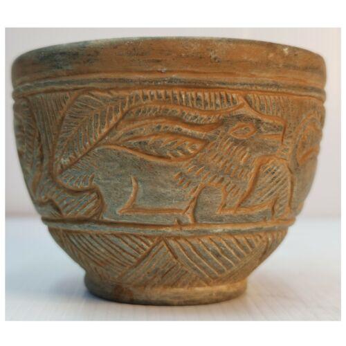 Wonderful Ancient sassanian Near Eastern carving stone Bowl    # 100