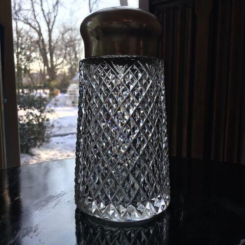 "Early American Brilliant Cut Glass Strawberry Diamond 5"" Sugar Shaker"