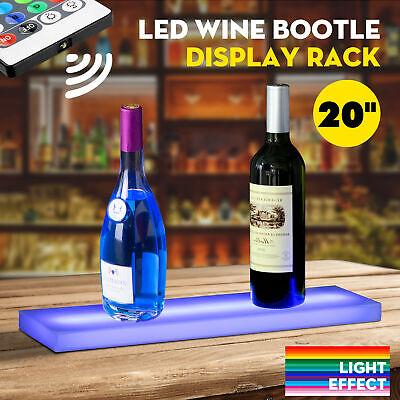 44key 20 Led Lighted Back Bar Liquor Display Shelf Rack Wine Bottle Stand Wrc