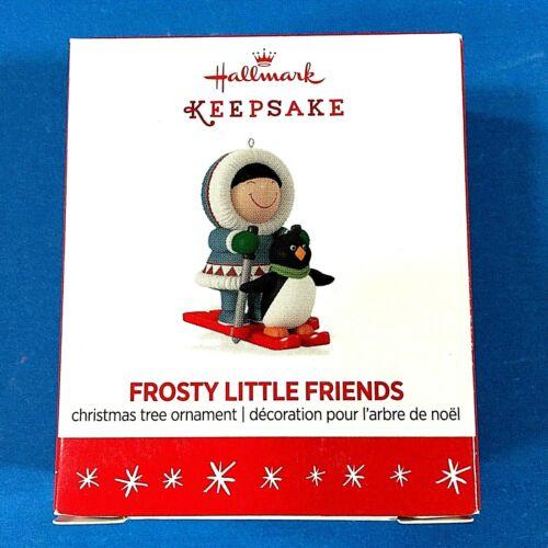 "Hallmark ""Frosty Little Friends"" Eskimo and Penguin Miniature Ornament 2016"