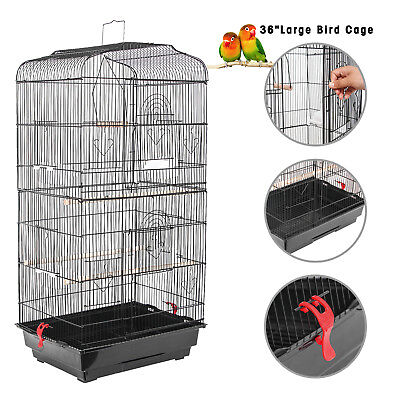"36"" Bird Cage Large Tall Bird Parrot Cage Canary Parakeet Cockatiel Finch"