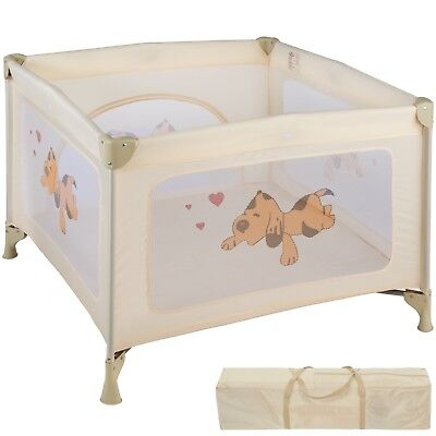 Parque para bebé cuna infantil de viaje portátil altura ajustable beige nuevo