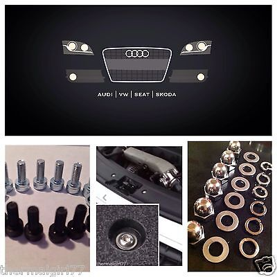 Car Parts - Fits Audi TT Engine Bay Cover Bolts Fastener - 50 Piece SS Conversion Kit