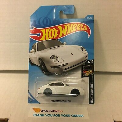 '96 Porsche Carrera #155 * White * 2019 Hot Wheels Case G & H