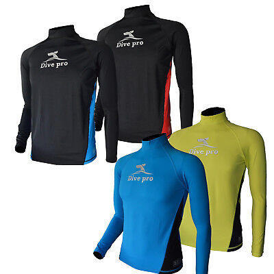 Uv Rash Shirt (DivePro Rash Guard Lycra Shirt - UV Longsleeve Herren )