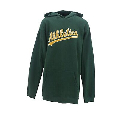Oakland Athletics A's Official MLB Majestic Kids Youth Size Hooded Sweatshirt (Majestic Athletic Hood)