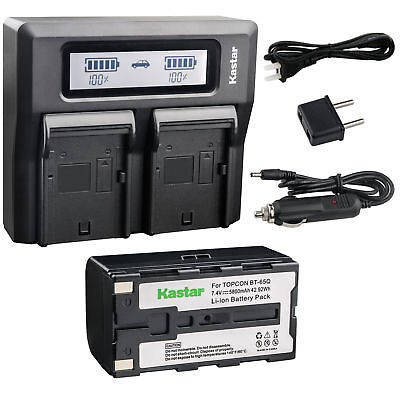 8bt65q Battery Lcd Dual Charger For Topcon Gpt-7500 Gts-900 Gpt-9000a Robotic