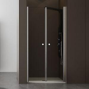 Box doccia 70 cm porta per nicchia due ante battenti apertura antipanico saloon - Ante per doccia ...