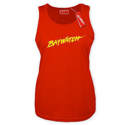 LICENSED BAYWATCH ® LADIES RED COOLTEX VEST TOP RACER BACK LIFEGUARD FANCY - Red Racer Kostüm
