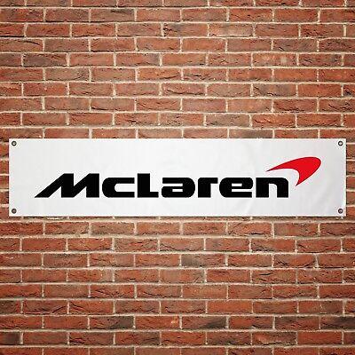 McLaren Logo Banner Garage Workshop Sign Printed PVC Trackside Display