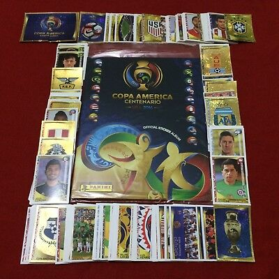 OFFICIAL PANINI COPA AMERICA CENTENARIO USA 2016 Complete Set Stickers Album