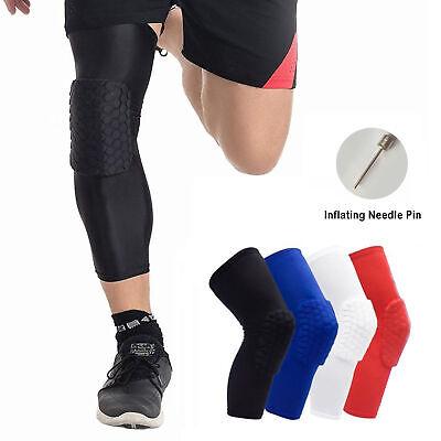 9a8d2dcfe65ce Honeycomb Knee Pad Crashproof Antislip Basketball Leg Long Sleeve Protector  Gear