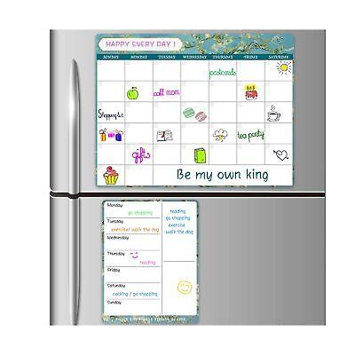 Magneticdry Erase Calendar - Refrigerator Dry Erase Fridge Calendar For Wall...