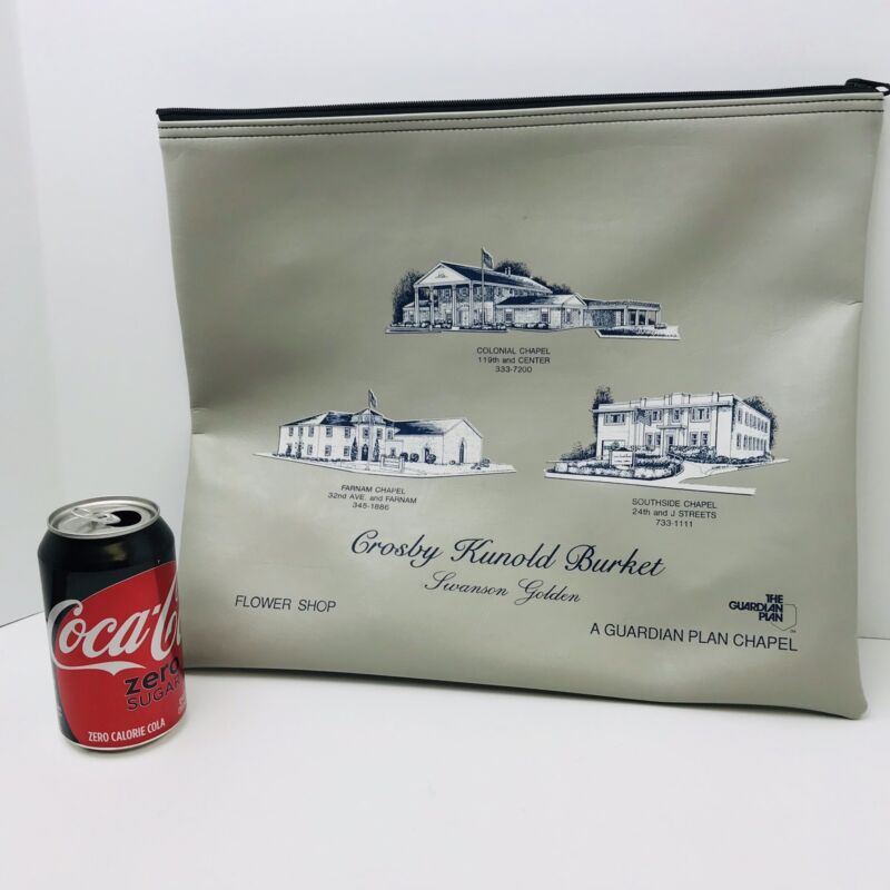 Funeral Home Document Bag Zipper Crosby Kunold Burket Swanson Golden 16x14