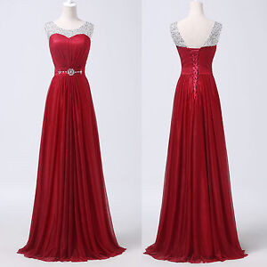 Free post long formal bridesmaid wedding prom bridal gown for Post wedding party dress