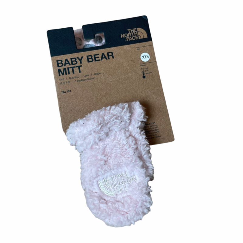 NWT The North Face Baby Bear Mitt Kids Infant Girl Size XXS Pink