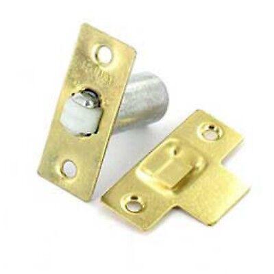 Adjustable Roller Catch (ADJUSTABLE ROLLER CATCH Internal Door Latch Spring Ball Mortice + Fixings BRASS)