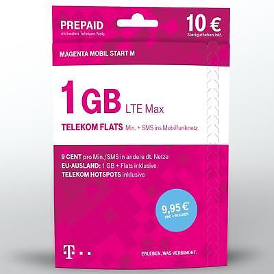 Xtra Karte Telekom Magenta Mobil Start M 10 € Guthaben Prepaid Handy SIM Telekom