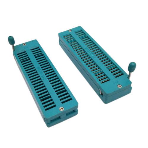 US Stock 2x 48 Pin 2.54mm ZIF ZIP IC Test DIP Board Socket Universal 248-6182
