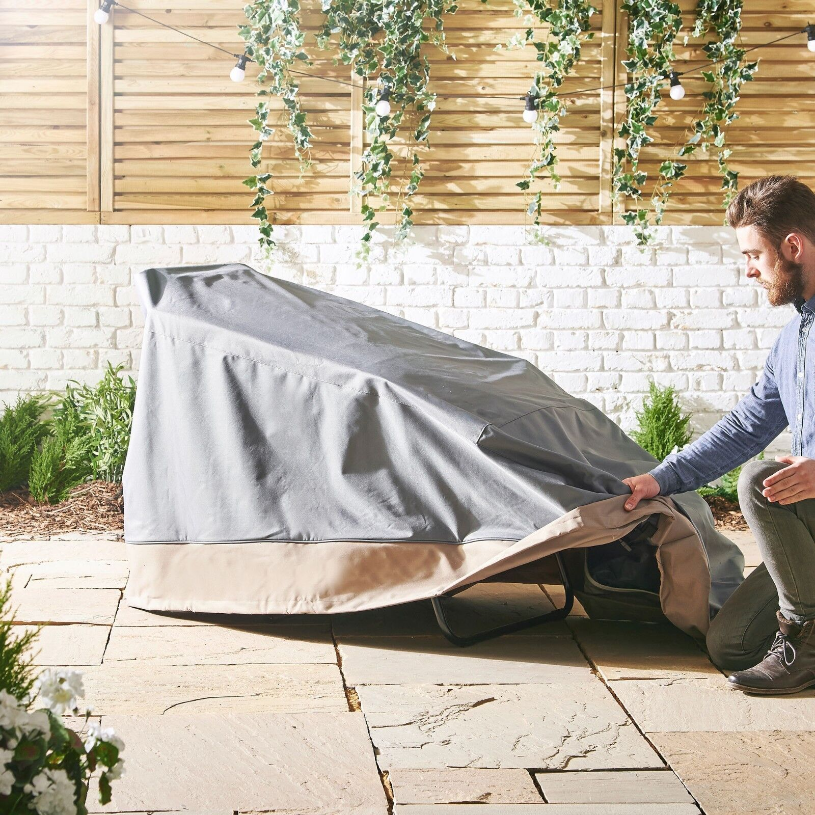 VonHaus Chaise Lounge Cover Heavy Duty Waterproof Outdoor Pa