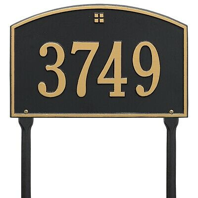 Whitehall PERSONALIZED Address Plaque Sign Numbers Cape Charles Lawn 15 x -