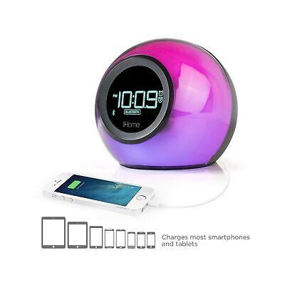 iHome iBT29 Color Changing Dual Alarm Clock Radio With Bluet