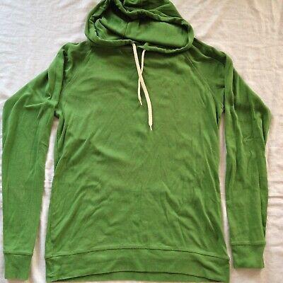 Mads Nørgaard Copenhagen Green Long Sleeve Hoodie Pullover Sweatshirt Medium Sz