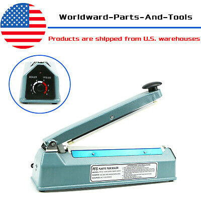 8 Heat Sealing Machine Impulse Sealer Seal Machine Poly Tubing Plastic Bag Kit