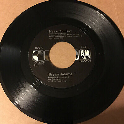 Bryan Adams Hearts On Fire / The Best Was Yet To Come 45 RPM Vinyl (The Best Was Yet To Come)