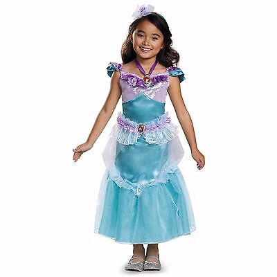 New Disney The Little Mermaid Ariel Deluxe Child Halloween Costume with Locket
