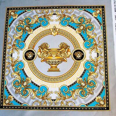 Versace authentic pure cotton velvet Italian FABRIC Home decor 48 x 48 cm.