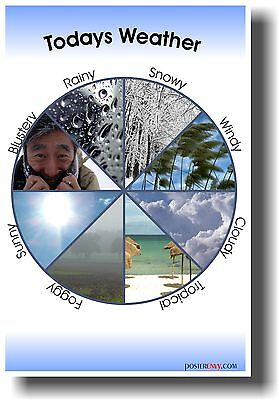 Todays Weather   New School Classroom Science Poster