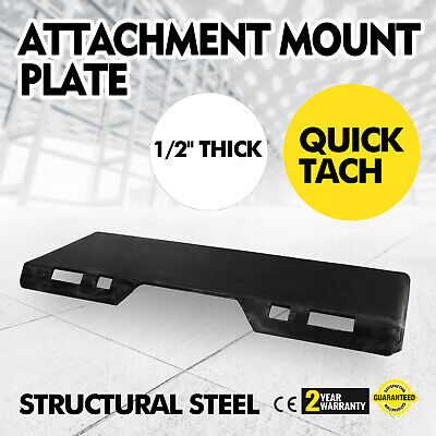 12 Quick Tach Attachment Mount Plate Bobcat Skid Steer Loader