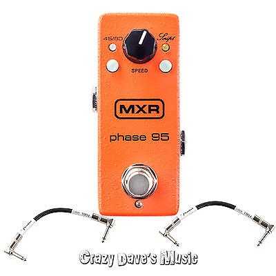Dunlop MXR Phase 95 Mini Phase 95 M290 with 2 Free Patch Cables