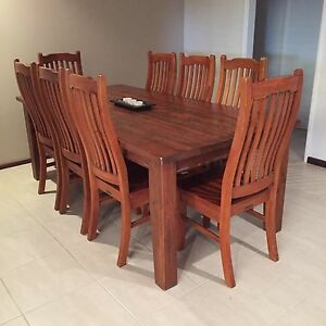 Rose Hannah Solid Wood Table & Chairs Samson Fremantle Area Preview