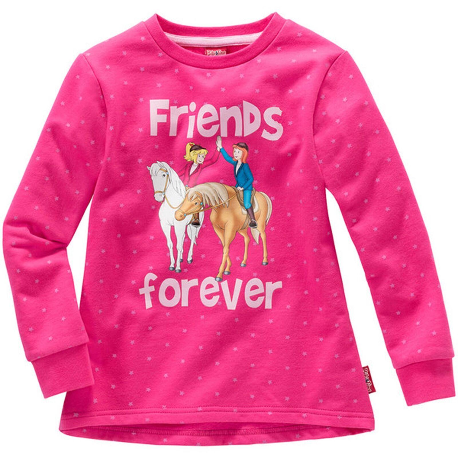 Kinder Mädchen SWEATSHIRT Bibi und Tina friends forever Pullover Sweater Pulli