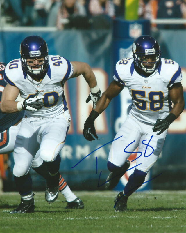 Tyrone McKenzie *MINNESOTA VIKINGS* Signed 8x10 Photo T2 COA GFA