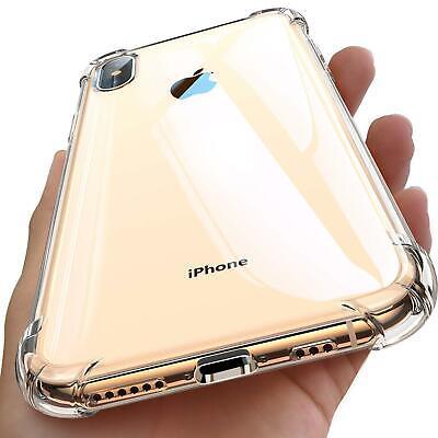 iPhone Hülle Durchsichtig Dünn Handyhülle Stoßfest Fallschutz Bumper Case Cover