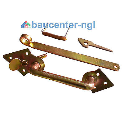 Stalltürklinkensatz SWG gelb verzinkt 250 mm zum Einschlagen Stalltür Klinke