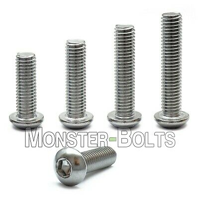 M5 - 0.80 Stainless Steel Button Head Socket Cap Screws Metric Iso 7380 A2 18-8