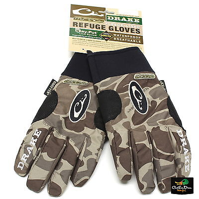 NEW DRAKE WATERFOWL SYSTEMS MST REFUGE GLOVES OLD SCHOOL TIMBER CAMO SMALL -