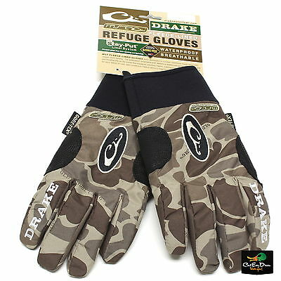 NEW DRAKE WATERFOWL SYSTEMS MST REFUGE GLOVES OLD SCHOOL TIMBER CAMO SMALL S ()