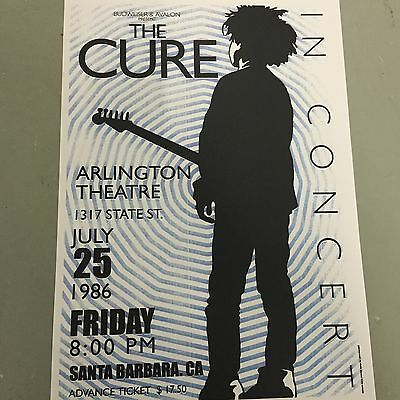 CURE - CONCERT POSTER SANTA BARBARA FRIDAY 25th JULY 1986 (A3 SIZE)