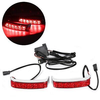 Saddle bag Run/Brake Lamps Light for Harley FLHT 14-18 Chrome Housing Red Len, used for sale  USA
